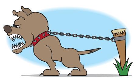 Cane da guardia Vicious proteggere la sua proprietà Archivio Fotografico - 42042508