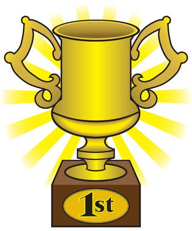 dominance: En primer lugar oro brillante trofeo de la Copa