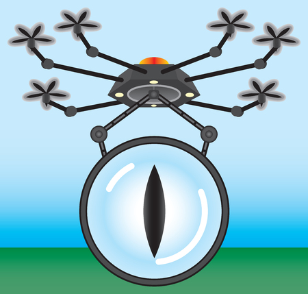 clandestine: Airborne spy drone on a surveillance mission