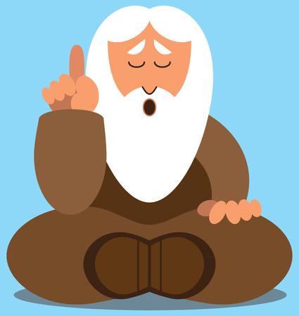 Bearded wise man dispensing wisdom