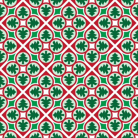 Colorful seamless Christmas background pattern Illustration