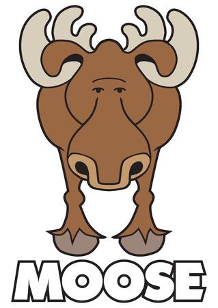 Cartoon Moose vector illustration.