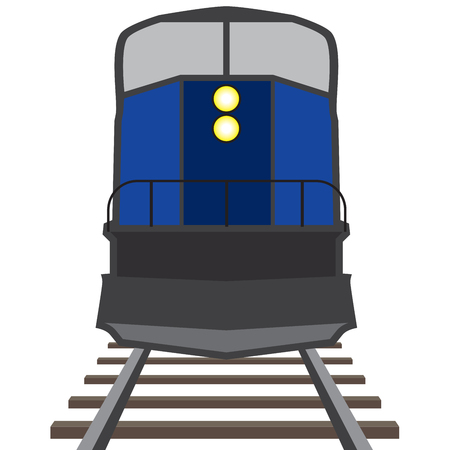 A train is coming down the tracks toward the viewer.