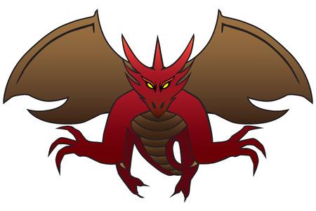 Fierce Flying Dragon illustration.
