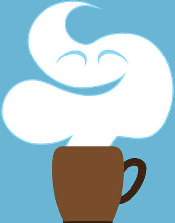 A cloud of steam rising from a cup of coffee Banco de Imagens - 158605470