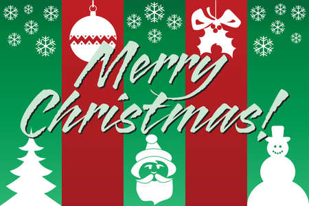 A colorful Christmas background with the words Merry Christmas