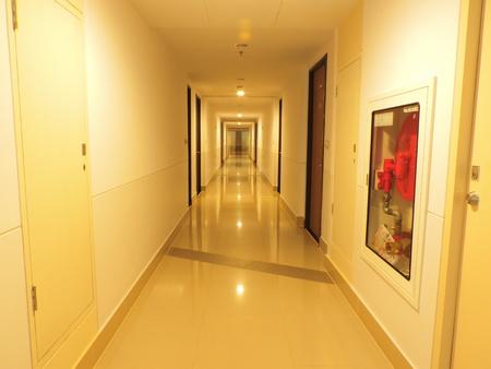A reflection of the corridor.