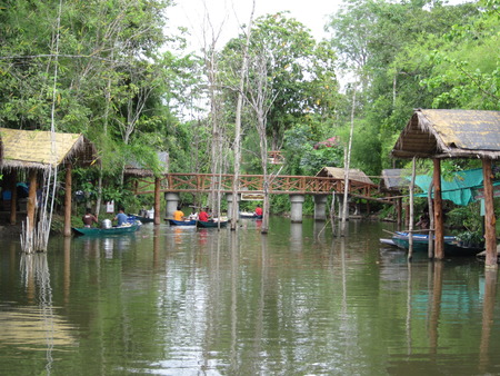 soppy: A floating market in Thailand.