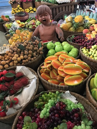 Cute variety fake fruit shop in Thailand.