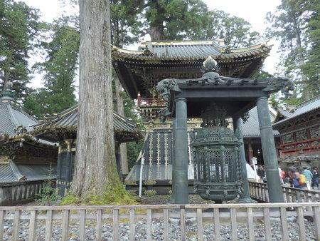 Oranda doro (Dutch lantern) at Nikko Toshogu Shrine in Japan. Stock Photo