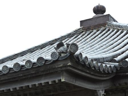 Roof details of Entsuin Temple in Matsushima, Miyagi Prefecture of Japan. Stock fotó