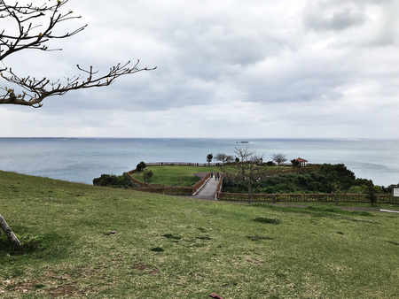 Scenery view surrounding Cape Chinen Park in Okinawa, Japan. 写真素材