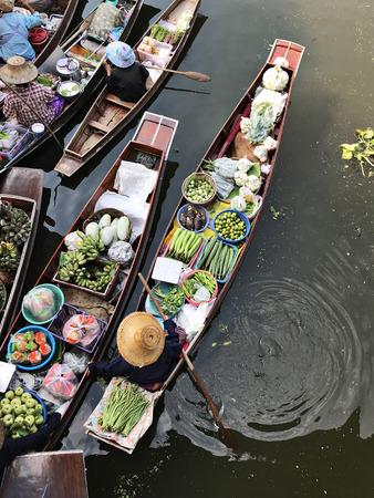 A floating market in Thailand