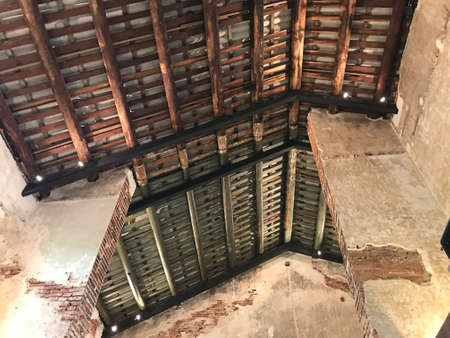 Bangkok, Thailand - July 27, 2019: The structure of the old building of LHONG 1919 in Bangkok, Thailand. Lhong 1919 located on the bank of the Chao Phraya river, the mid-nineteenth century Sino-Siamese port now welcomes all to savour it's rich history.