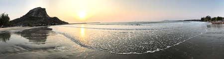 Morning scenery view surrounding Khao Ta-Kiab beach in Hua Hin, Thailand.
