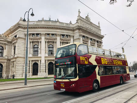 Vienna, Austria - November 11, 2018:  Big Bus Vienna is the flexibility of hop-on, hop-off tours to enjoy premium views of Vienna's best landmarks and attractions.