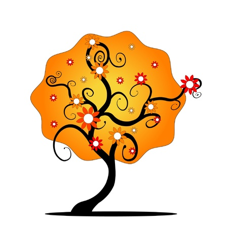 tree abstract floral Illustration