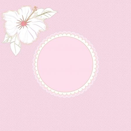 Romantic pink invitation Illustration