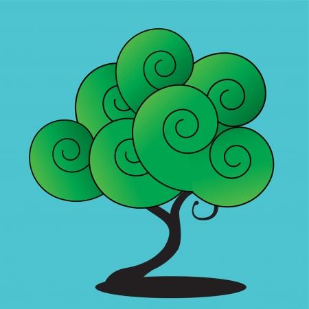 funny vector tree Illustration