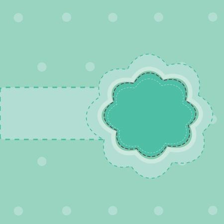 blue label frame Illustration