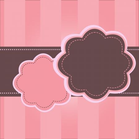 vintage pink frame Vector