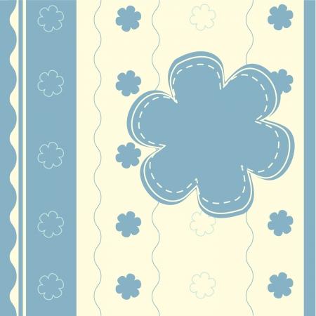 striped light blue baby frame