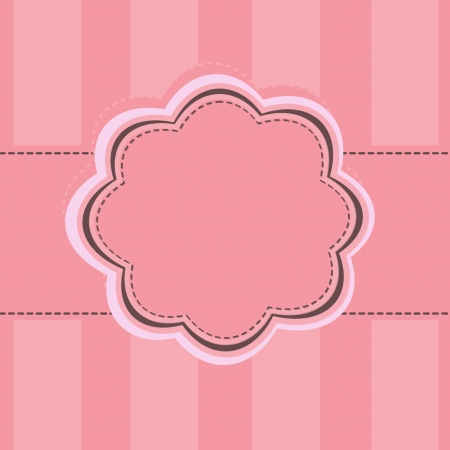 pink label frame Stock Vector - 13734651