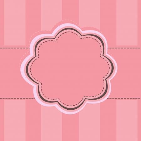 marco de la etiqueta de color rosa