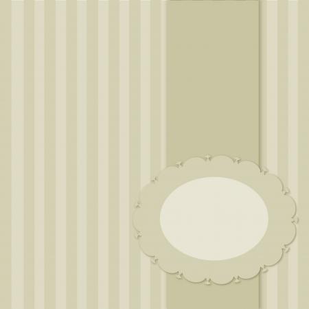 lined paper: ancient vintage menu frame Illustration