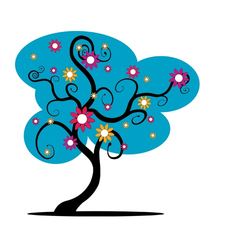 blue tree Illustration