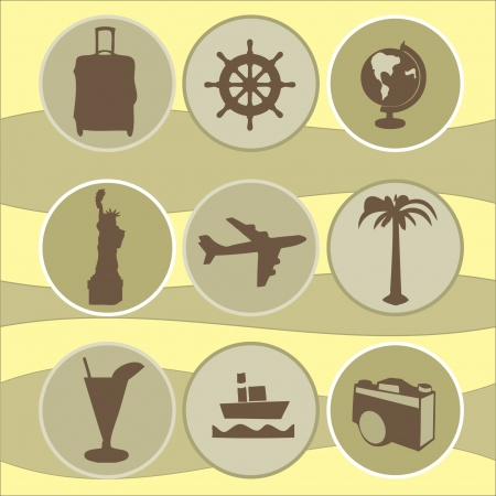 set vacations Vector
