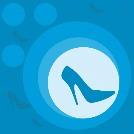 label fashion shoes in blue Vector