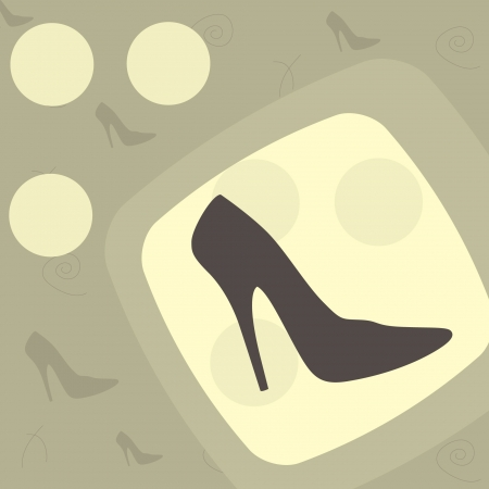 fashionable shoes in a vintage background