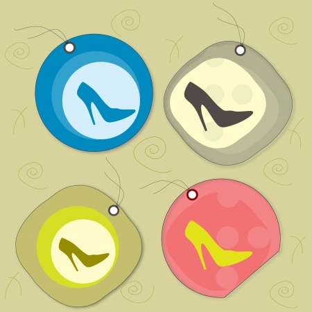 label fashion shoes Vector
