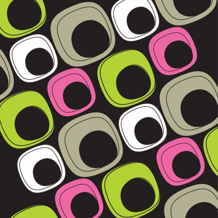 60's: 60 s colorful background Illustration