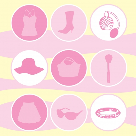 pink hat: set accessories for female
