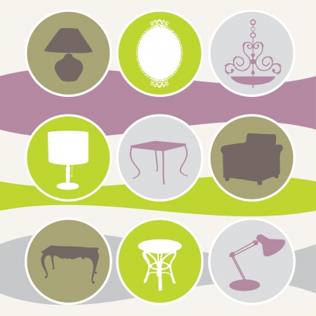 set interiors elements Vector