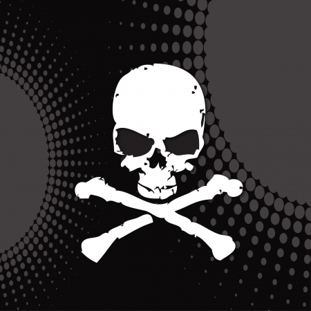 skull, skull on a modern background,  Illustration