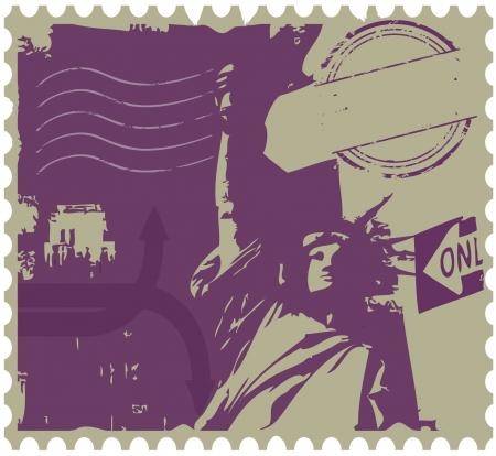 constitucion: nueva york postal Vectores
