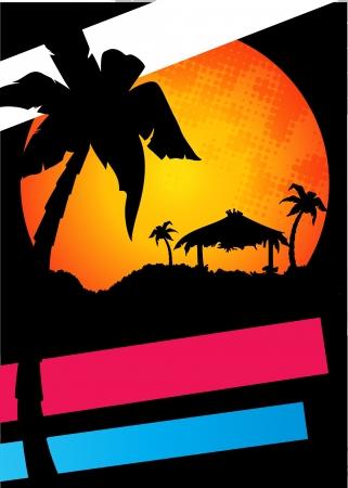 surf silhouettes: estate tropicale