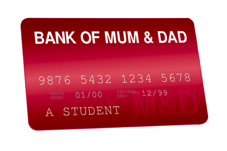 Bank of Mum and Dad Credit Card Family Finances Stock Photo - 24202072