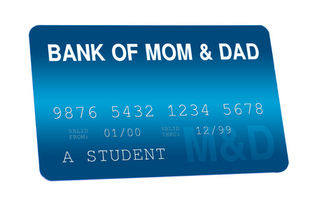 Bank of Mom and Dad Credit Card Family Finances Stock Photo - 24202073