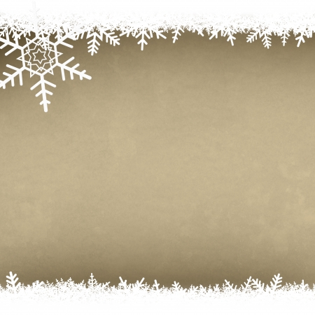 Cream Parchment Abstract Christmas Winter Snowflake Background with Copy Space Stock Photo