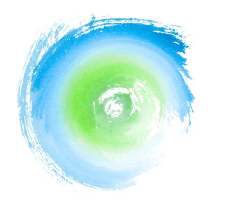 ciclo del agua: Azul Verde pintado remolino Eco Concept Símbolo