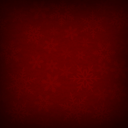 Red Abstract Christmas Winter Snowflake Background