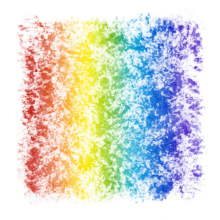 stippled: Abstract Watercolor Textured Rainbow Frame Stock Photo
