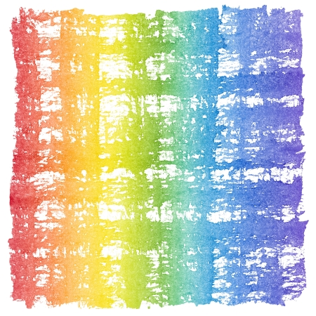 cross hatched: Abstract Watercolor Crosshatched Rainbow Frame
