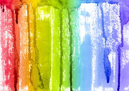 Abstract Watercolor Rainbow Paint Brush and Drips Background photo