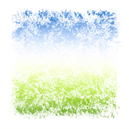 stippled: Abstract Watercolor Sky and Grass Square Textured Frame
