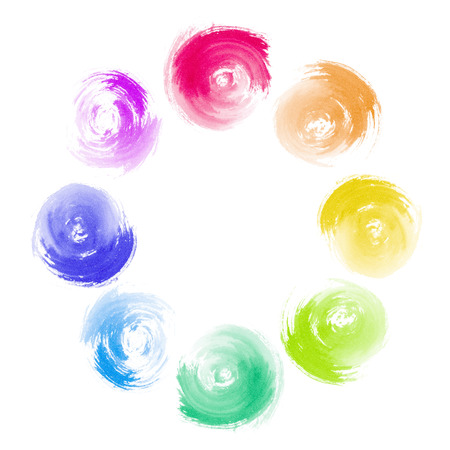 co operation: Abstract Rainbow Paint Swirl Diversity Concept
